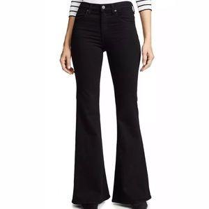COH Chloe Black Mid Rise Super Flare Jeans Size 25